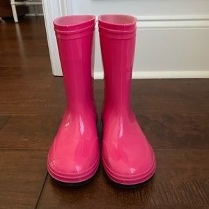 Hot Pink Little Girls Rain Boots Size 13